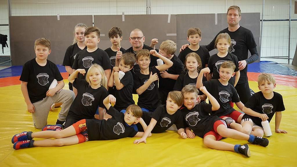 Vår första träning i Vellinge Brottarklubb