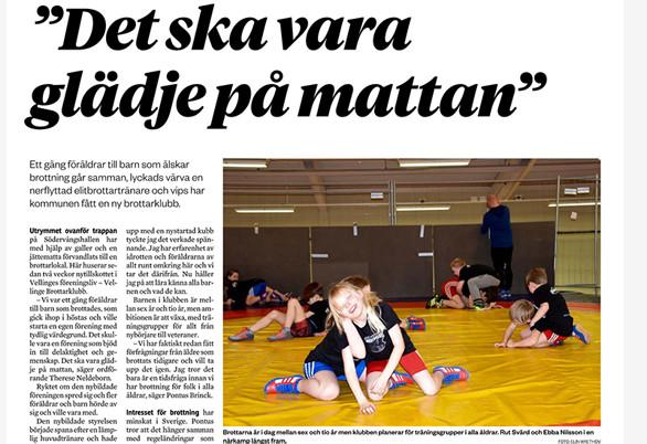 Vellinge BK i Tidningen Hallå Vellinge!